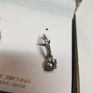 Giani Bernini Sterling Silver CZ Drop Earrings